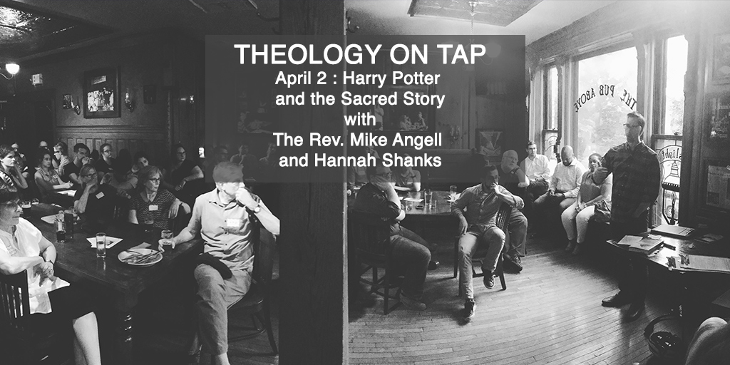 """Tuesday April 2: """"Harry Potter and the Sacred Story"""" with the Rev. Mike Angell and Prof. HannahShanks"""